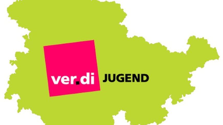 Logo, ver.di Jugend Thüringen, Thüringen