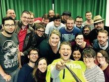 Gruppenfoto mit den Aktiven der ver.di Jugend Sachsen, Sachsen-Anhalt, Thüringen