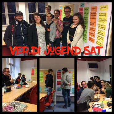 Collage mit Eindrücken vom Jugendpolitischen Dialog