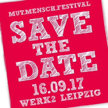 Ausschnitt Flugblatt zur Ankündigung des Mutmensch-Festivals am 16.9.