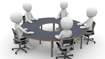 Illustration eines Meetings