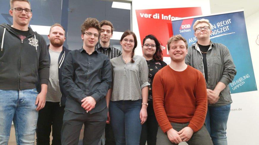 Gruppenfoto der ver.di Jugend Chemnitz