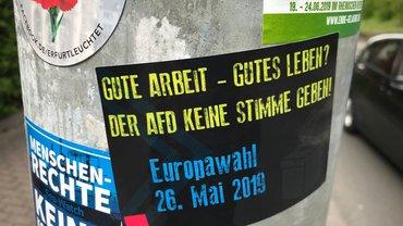 Sticker-Aktion der ver.di Jugend zur Europawahl
